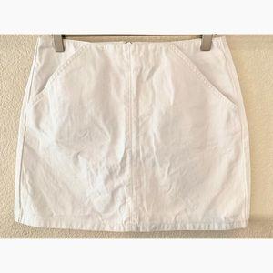 TOPSHOP denim moto short mini skirt pockets 6P